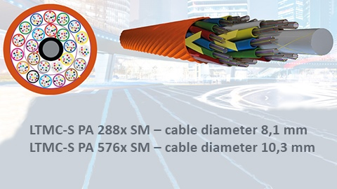 New, super slim LTMC fibre-optic cables